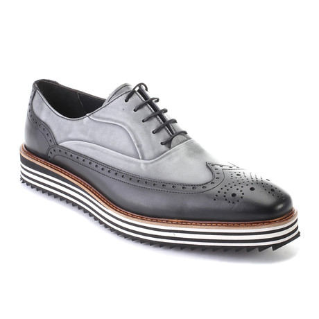 Addison Dress Shoes // Antique Black + Gray (Euro: 39)