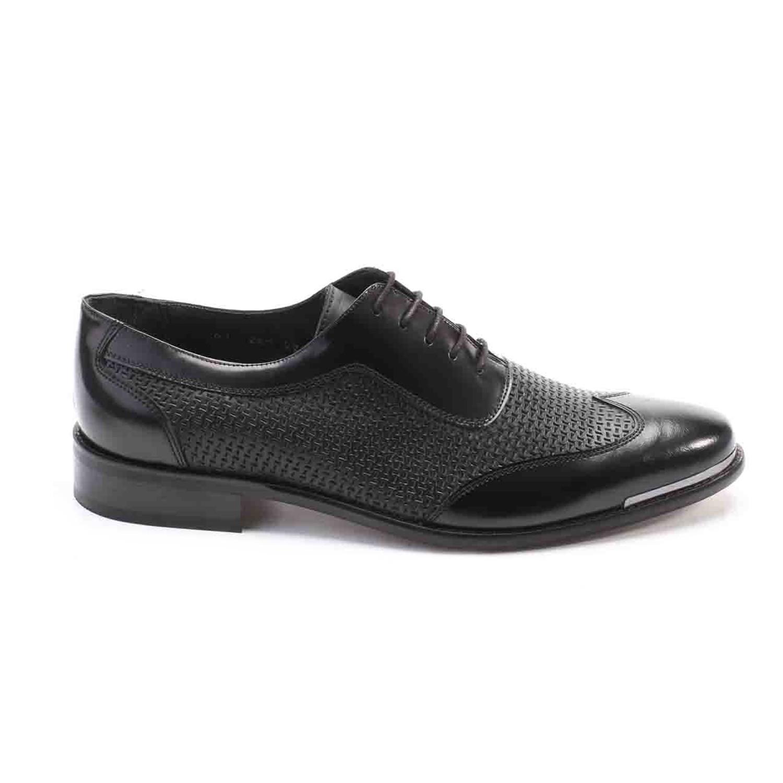Dress Shoes Mixed Texture Black
