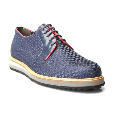Paris Woven Derby + Contrast Platform Sole // Dark Blue (Euro: 39)