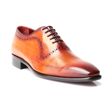 Hercules Perforated Plain Toe Oxford // Antique Tobacco (Euro: 40)