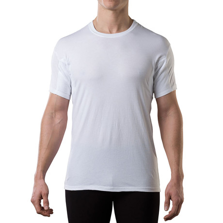 Sweat Proof Hydro-Shield Crewneck // White (L)