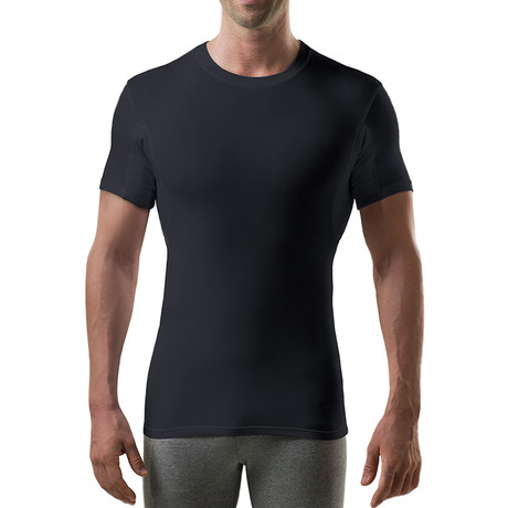 Sweat Proof Hydro-Shield Slim Fit Crewneck // Black (XS)