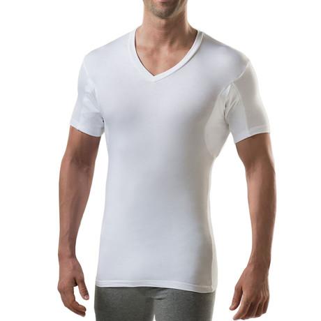 Sweat Proof Hydro-Shield Slim Fit V-Neck // White (XS)