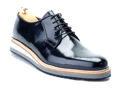 Photo of Deckard Handcrafted Leather Dress Shoes Patent Platform Oxford // Black (Euro: 39) by Touch Of Modern