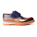 Zerkses Dress Shoes // Tobacco + Navy + Cognac (Euro: 41)