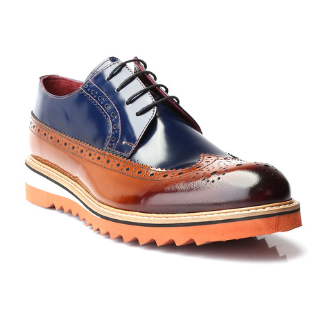 Zerkses Dress Shoes // Tobacco + Navy + Cognac (Euro: 39)