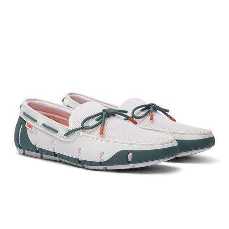 Stride Lace Loafer // White Teal (US: 7)