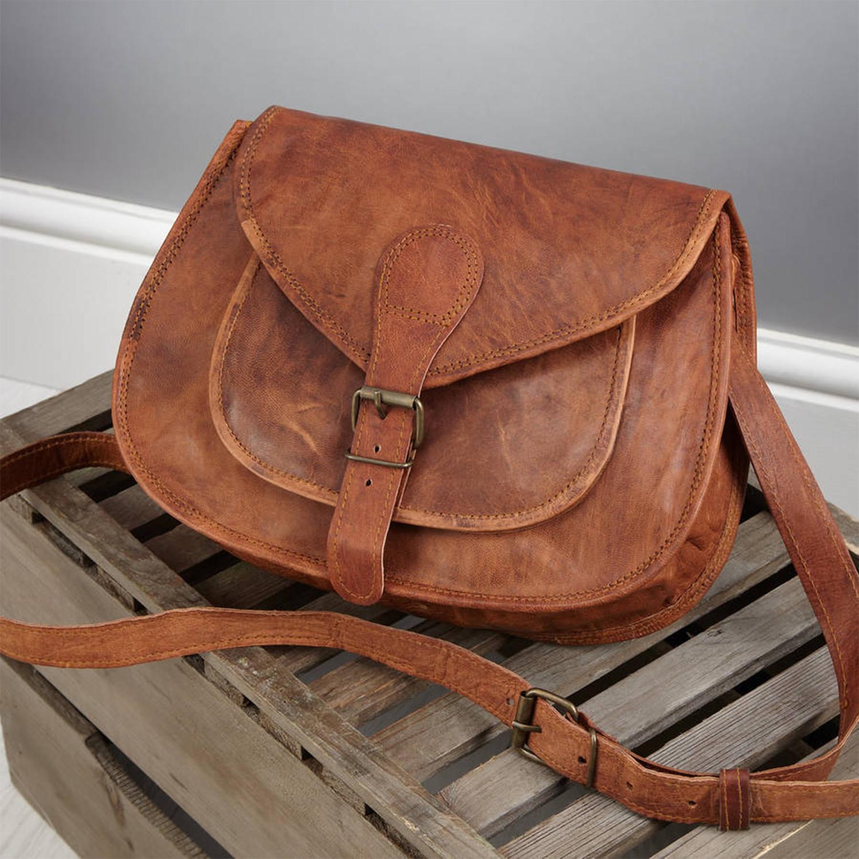a4e3a486d Vintage Leather Saddle Bag (Small) - Vida Vida - Touch of Modern