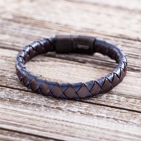Woven Bracelet // Navy Blue + Brown