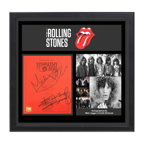 Framed Autographed Collage // The Rolling Stones // Sympathy For The Devil