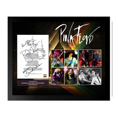 Framed Autographed Collage // Pink Floyd