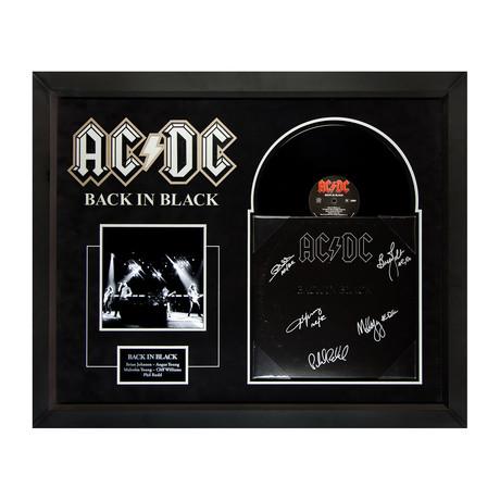Signed + Framed Collage // AC/DC Back In Black
