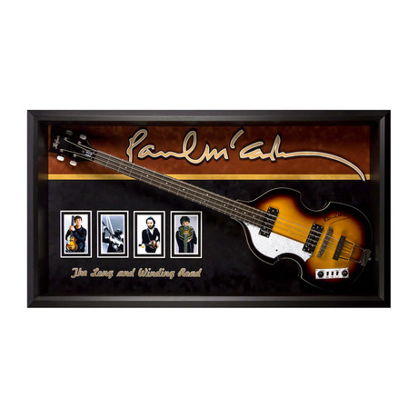 Framed Autographed Guitar // Paul Mccartney
