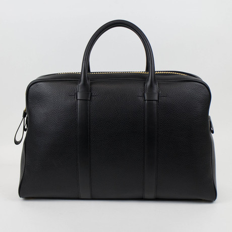 Buckley Trapeze Pebbled Leather Briefcase // Large // Black