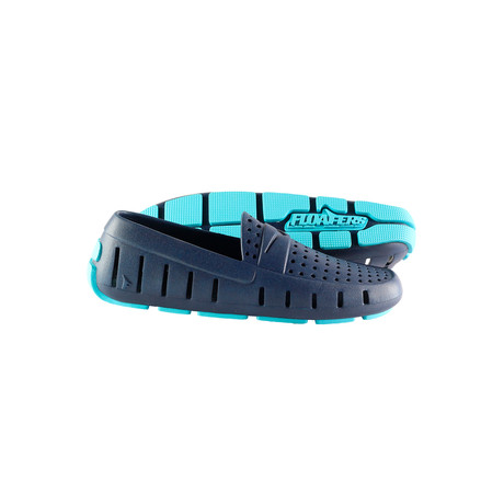 Montgomery Driver Shoes // Deep Sea Blue + Aqua (US: 8)