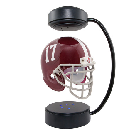 Floating College Football Helmets