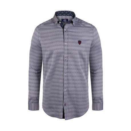 Jillian Button Down Shirt // Navy Stripe (S)