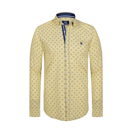 Izzy Button Down Shirt // Yellow (S)