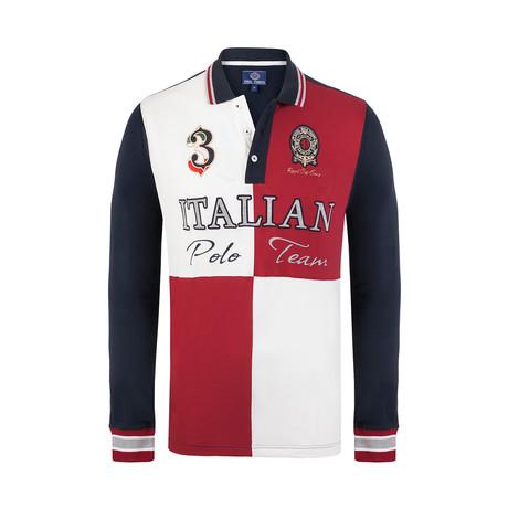 Polo Team Long Sleeve Polo Shirt // Dark Red (XS)
