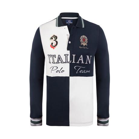 Polo Team Long Sleeve Polo Shirt // Navy (XS)