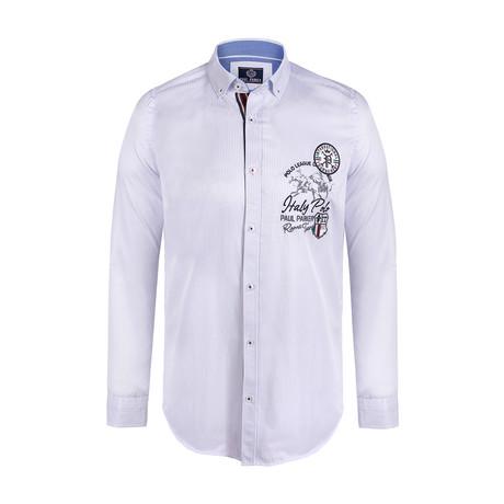 Stanley Button Down Shirt // Light Blue Stripe (S)