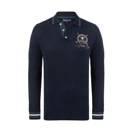 Polo Club Long Sleeve Polo Shirt // Navy (XS)
