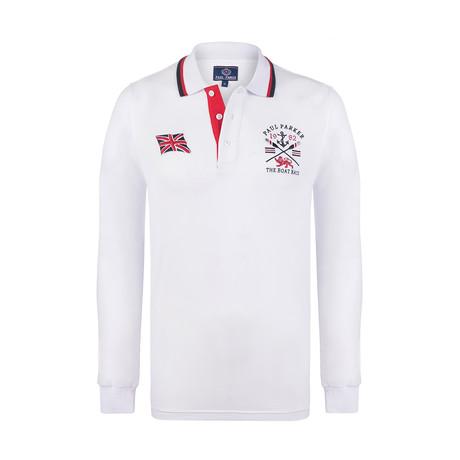 Boat Race Long Sleeve Polo Shirt // White (XS)