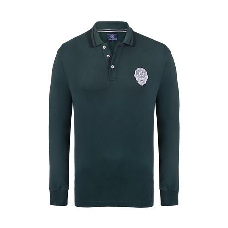 Paul Parker Long Sleeve Polo Shirt // Dark Green (XS)