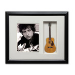 Bob Dylan Mini Guitar & Photo Tribute Shadow Box