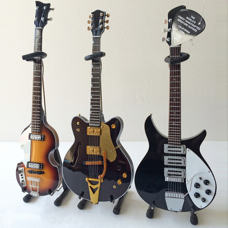 The Beatles // Classic Mini Guitar Replicas // Set of 3