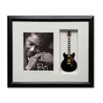 BB King Mini Guitar & Photo Tribute Shadow Box