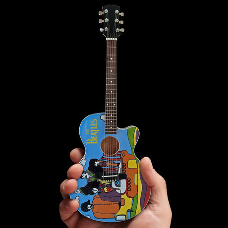 The Beatles // Yellow Submarine Tribute Mini Acoustic Guitar Replica
