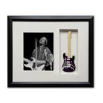 Jimi Hendrix Tribute Fender™ Strat™ Mini Guitar & Photo Tribute Shadow Box