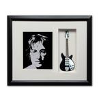 John Lennon Imagine Mini Guitar & Photo Tribute Shadow Box