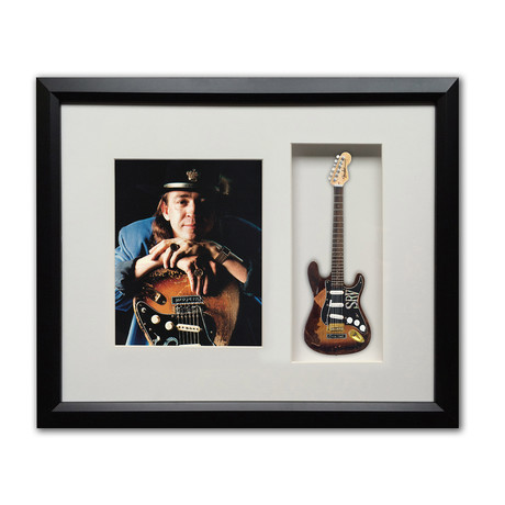 Stevie Ray Vaughan Custom Fender™ Strat™ Mini Guitar & Photo Tribute Shadow Box
