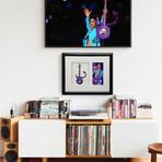 Prince Purple Symbol Mini Guitar & Photo Tribute Shadow Box
