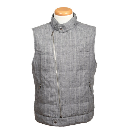 Linen Vest // Gray (XS)
