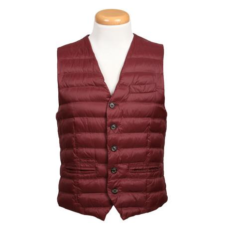 Puffer Vest // Maroon (XS)