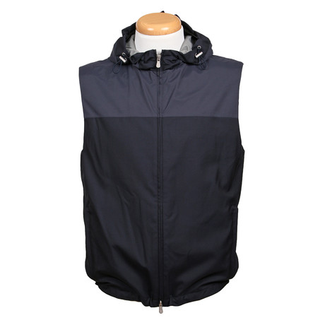 Two Tone Waterproof Vest // Navy Blue (Euro: 48)