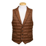 Puffer Vest // Brown (XS)