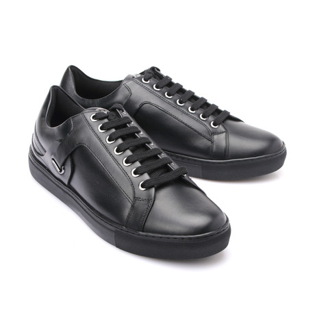 Versace Collection // Lace-Up Sneaker // Black (Euro: 39)