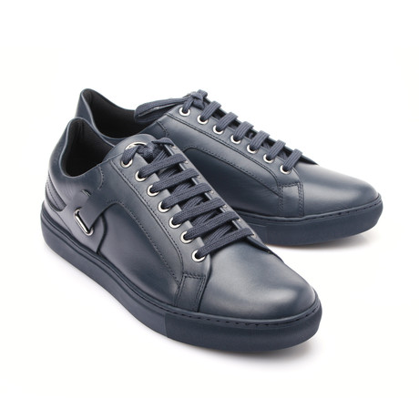 Versace Collection // Lace-Up Sneaker // Blue (Euro: 39)