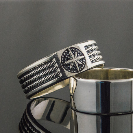 Rope + Compass Ring (6)