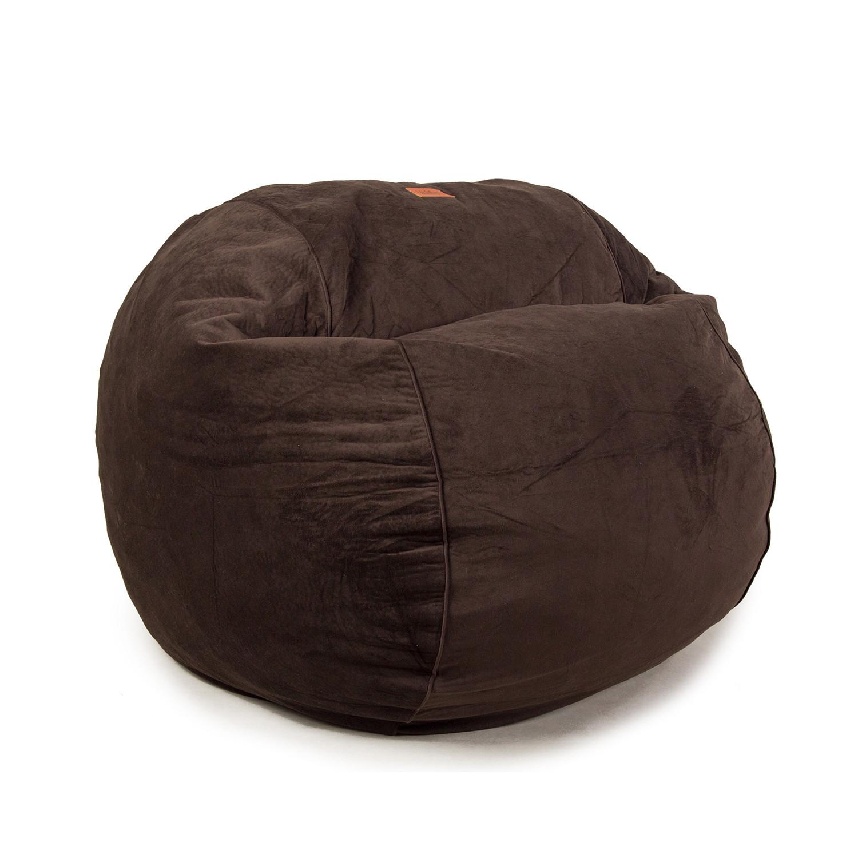 Plush Velour Convertible Bean Bag Chair Coffee