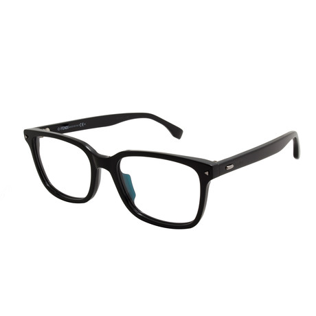 Fendi // Rectangular Acetate Eyeglass Frames // Black