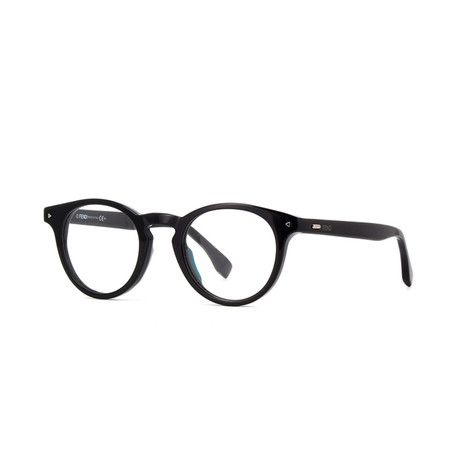 Fendi // FF-2019 Rectangular Acetate Eyeglass Frames // Black