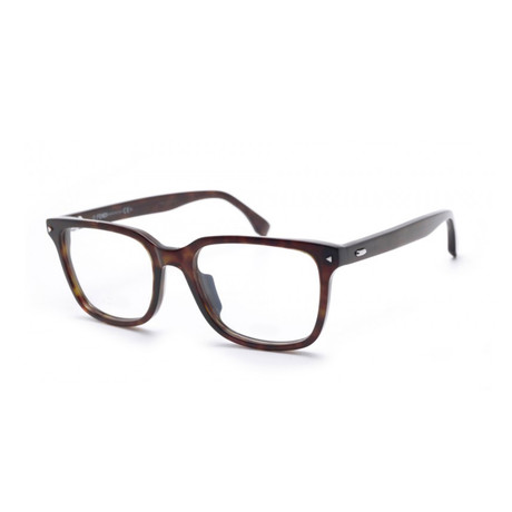 Fendi // Rectangular Acetate Eyeglass Frames // Dark Havana