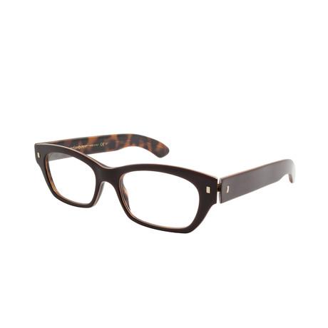 Yves Saint Laurent // Women's Acetate Optical Frames // Bordeaux Marble Brown