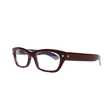 Yves Saint Laurent // Women's Acetate Optical Frames // Bordeaux