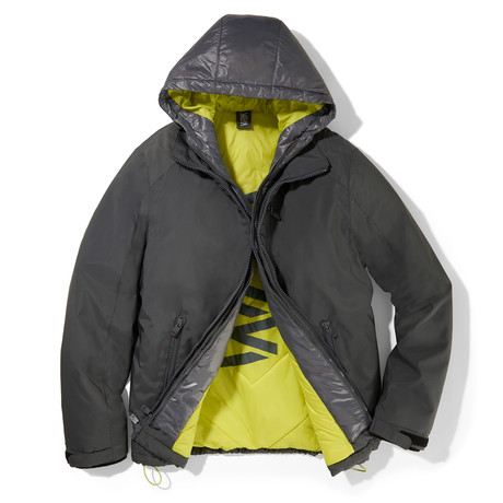 Turbo Puffer Hooded Jacket // Gray (S)
